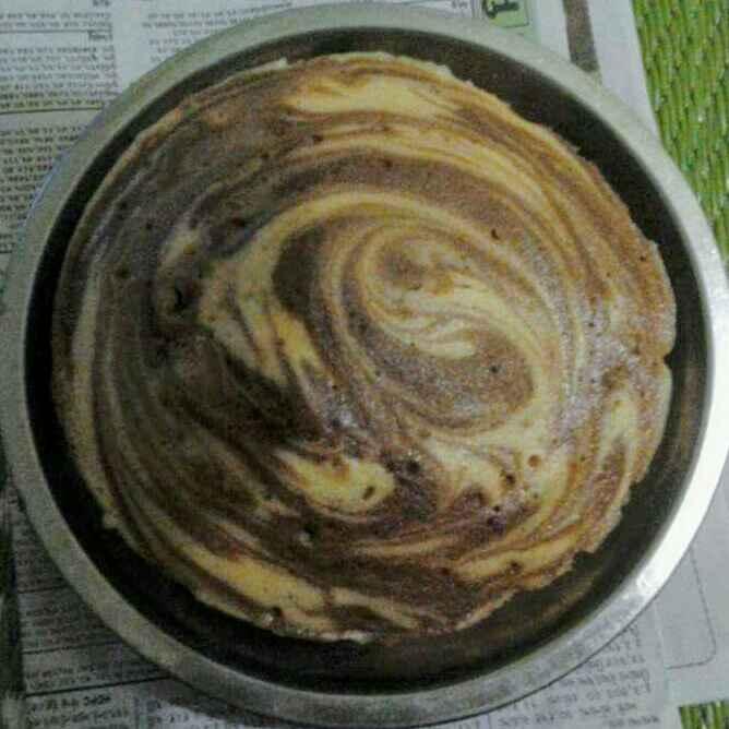 How to make चॉकलेट वेनिला मार्बल वेगन केक