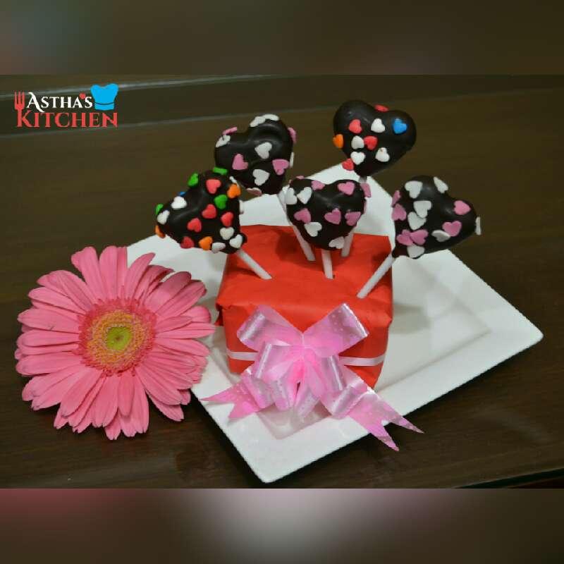 How to make Heart shaped cake pops