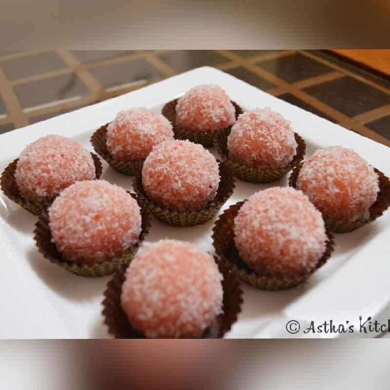How to make Rose Flavoured Coconut Laddu