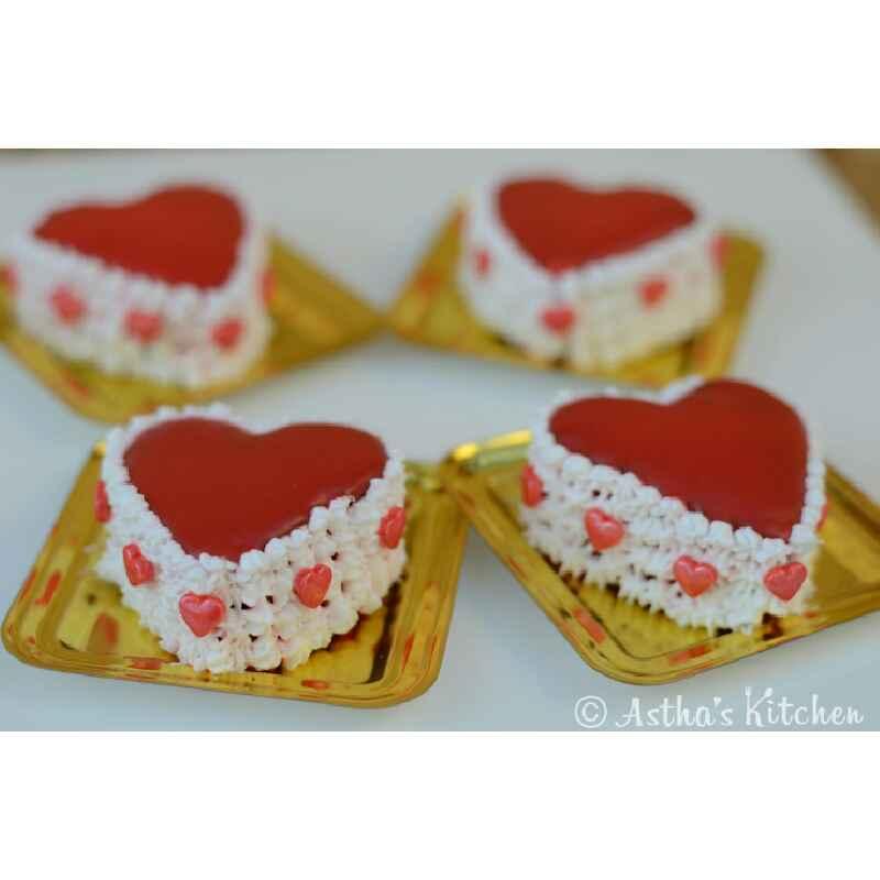 Photo of Eggless Chocolate Mini Hearts by Astha Mahajan at BetterButter