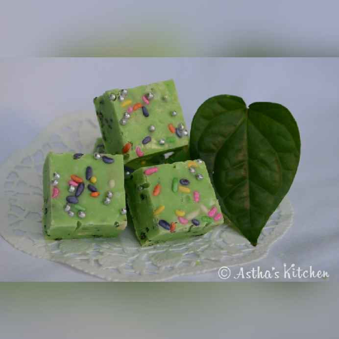 How to make PAAN ( BETEL) CHOCOLATE FUDGE