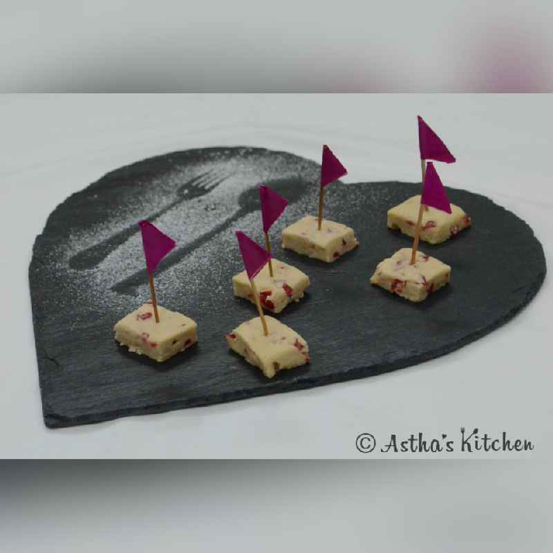 Photo of CHERRY SHORTBREAD COOKIES by Astha Mahajan at BetterButter