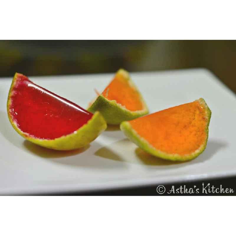 Photo of Orange jello wedges by Astha Mahajan at BetterButter