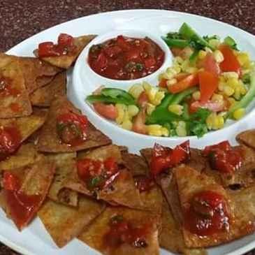 How to make Roti nachos with corn salad and tomato salsa