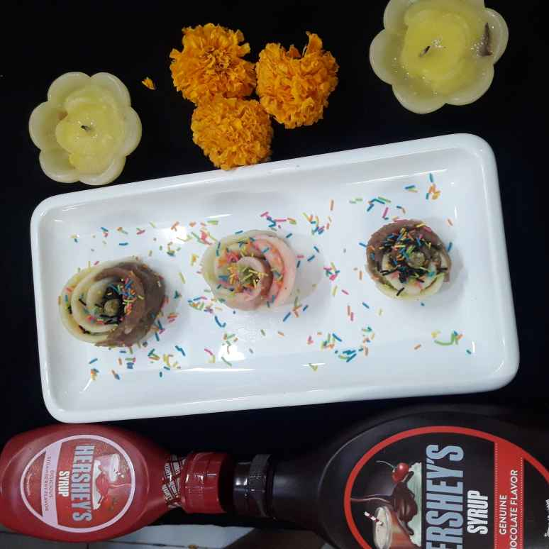 How to make Chocolate and strawberry dryfruits flowers