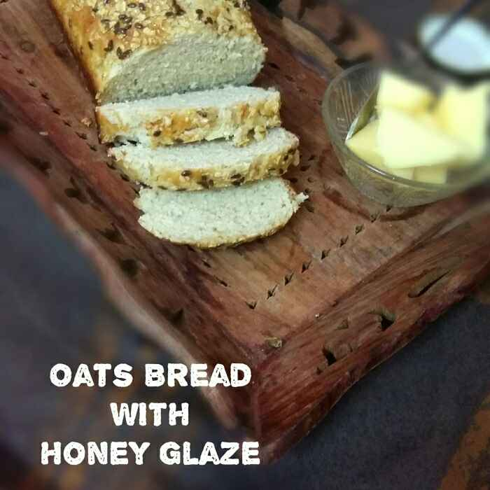 How to make Oats Bread With Honey Glaze | Healthy Oats Bread