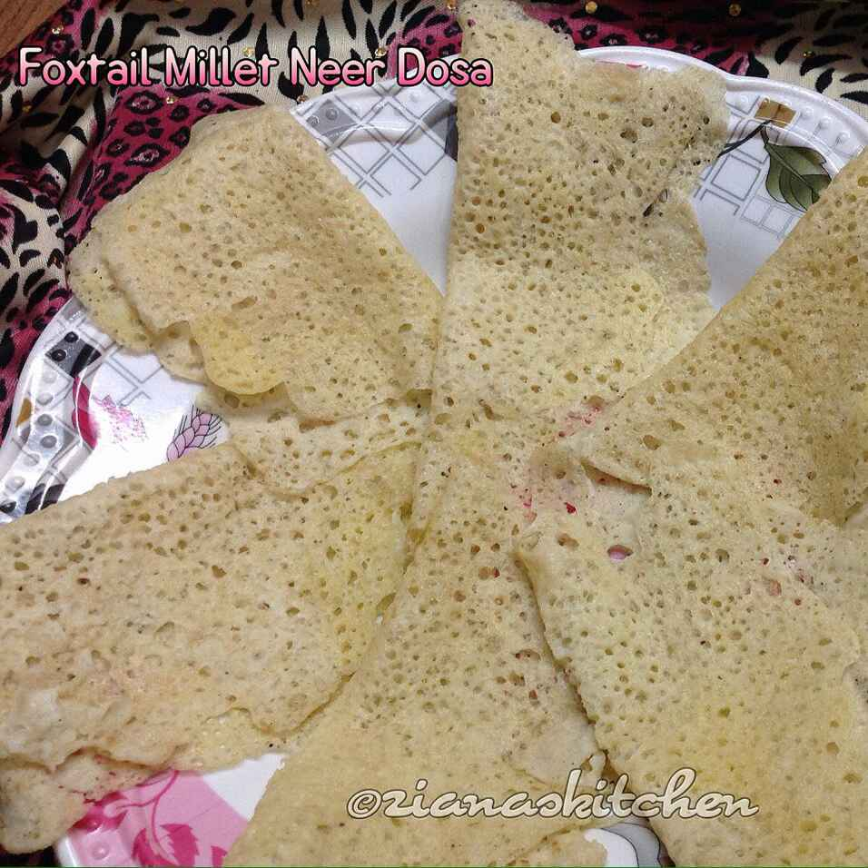 Photo of Foxtail Millet Neer Dosa by Ayesha Ziana at BetterButter
