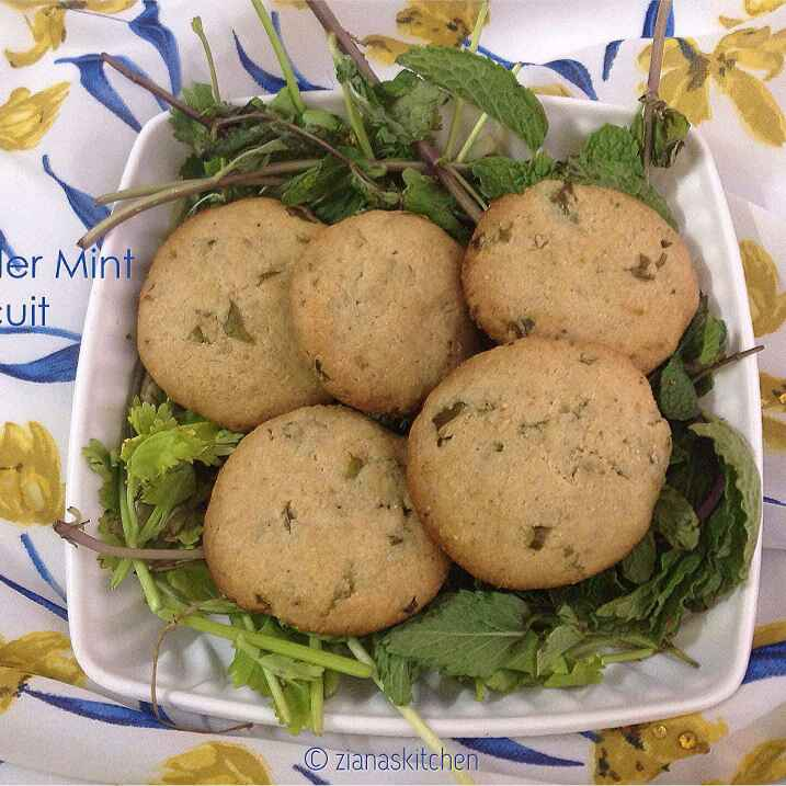 How to make Coriander Mint Biscuit