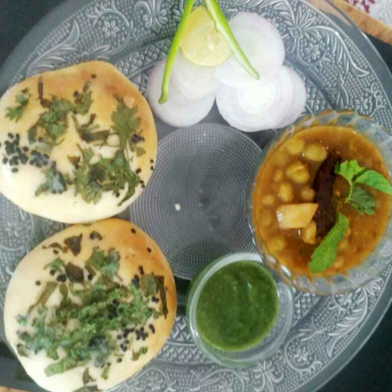 Photo of Home made kulcha with whole wheat flour and matra by Babita Chandak at BetterButter