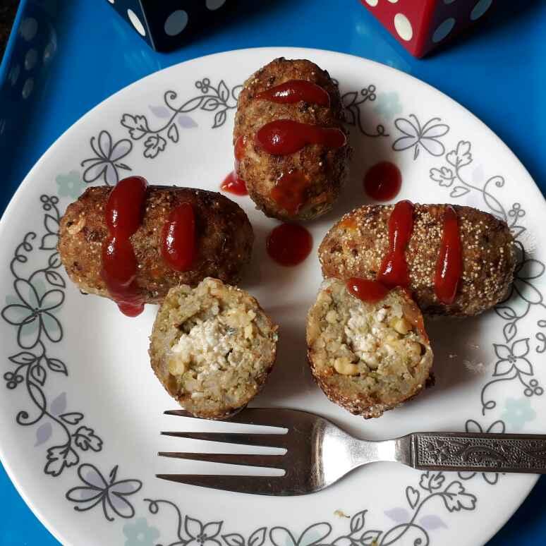 Photo of Paneer stuffed sprouts potato cutlet by Babita Jangid at BetterButter