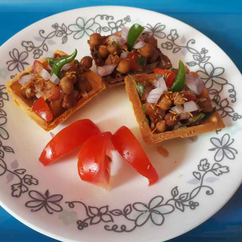 Photo of Chana chaat with  grilled canape  by Babita Jangid at BetterButter