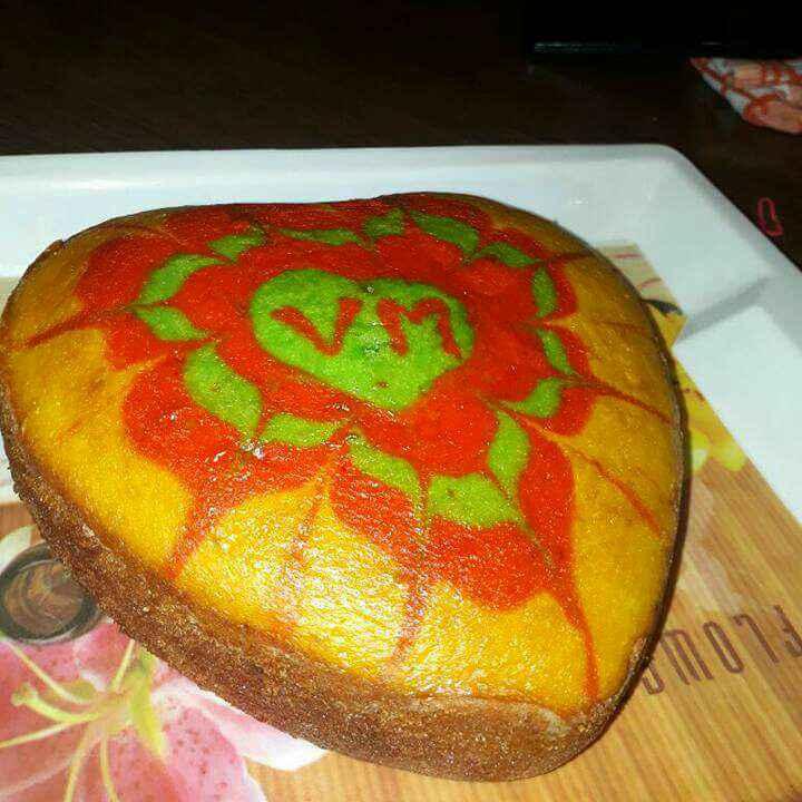 How to make मार्बल केक कड़ाई में