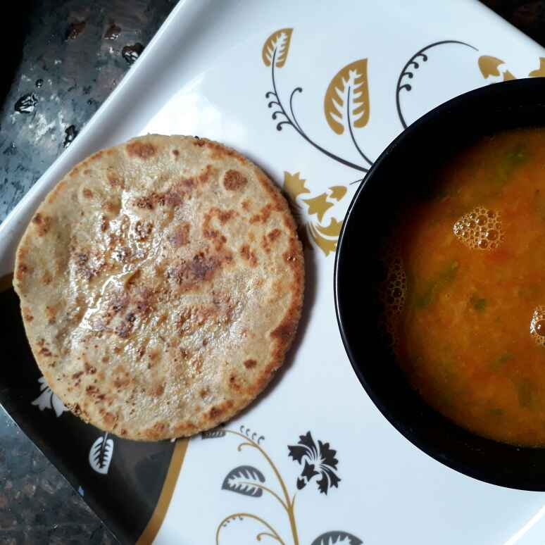 Photo of Puran poli amti ke sath by Babita Jangid at BetterButter