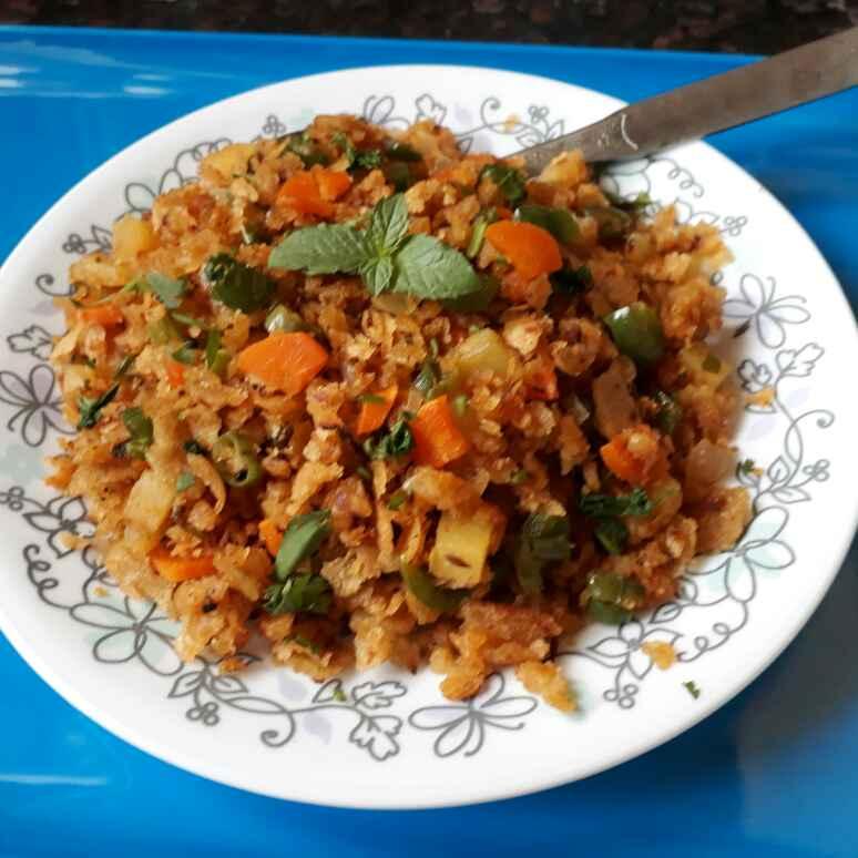 How to make चपाती पोहा