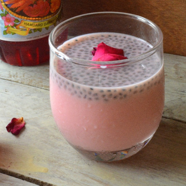 How to make Rosemilk With Sabja Seeds | Roohafaza With Sweet Basil Seeds