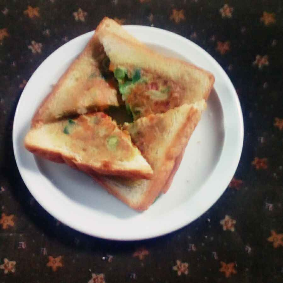 Photo of Vegetable cheese bread omelette by Reshma Babu at BetterButter
