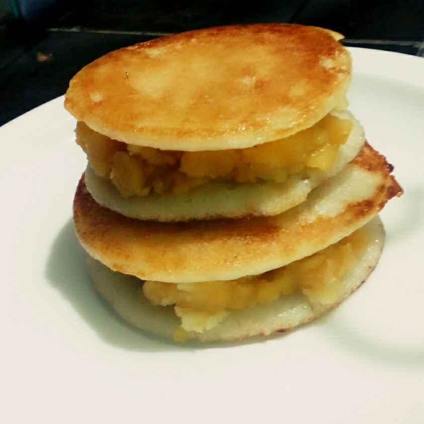 How to make Sweet Dal stuffed pancake