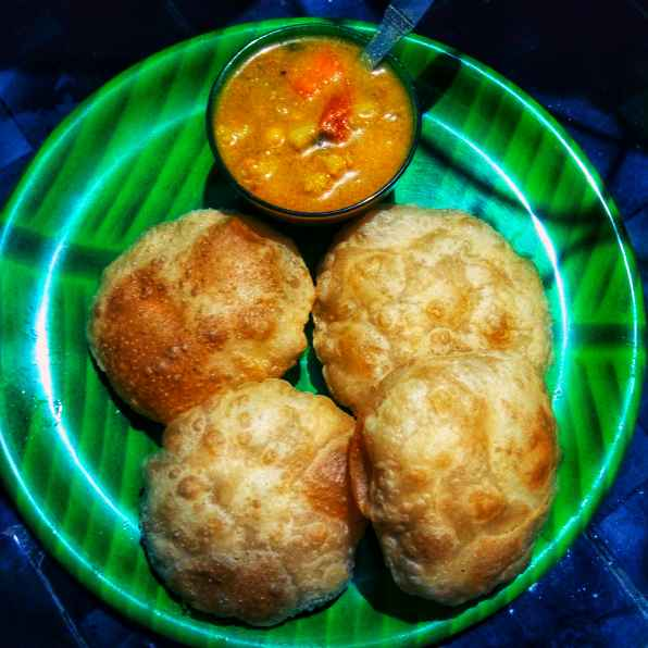 Photo of Puri and vegetable kurma by Reshma Babu at BetterButter