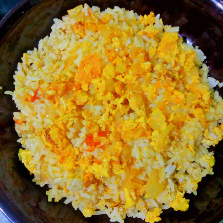 How to make Egg rice