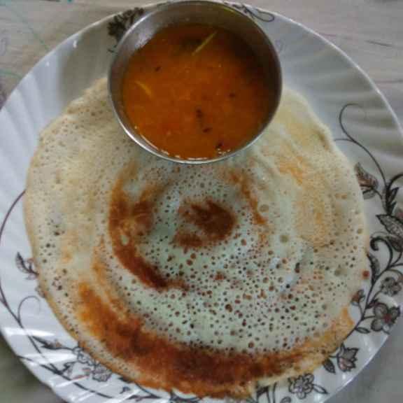 Photo of Pasi paruppu sambar and dosa by Reshma Babu at BetterButter