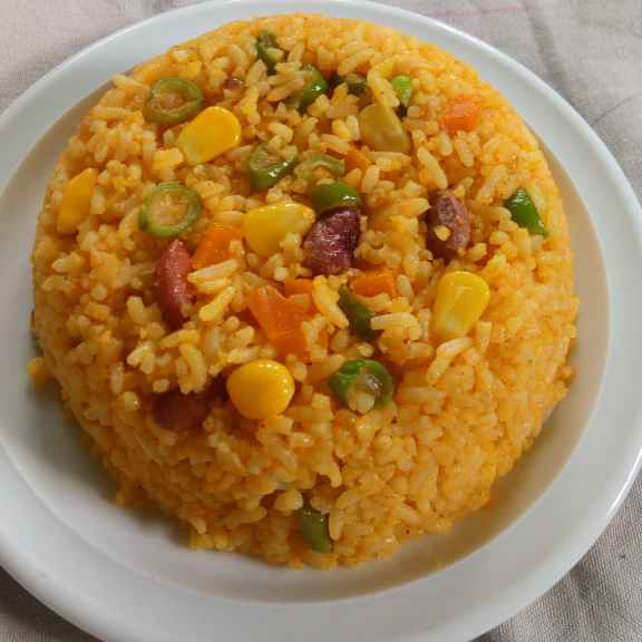 How to make Spicy vegtable rice