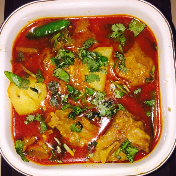 Photo of spicy mutton potato curry by Baby SiMr at BetterButter