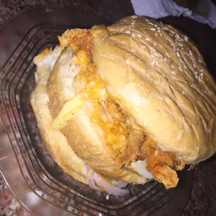 Photo of creamy chicken burger by Baby SiMr at BetterButter