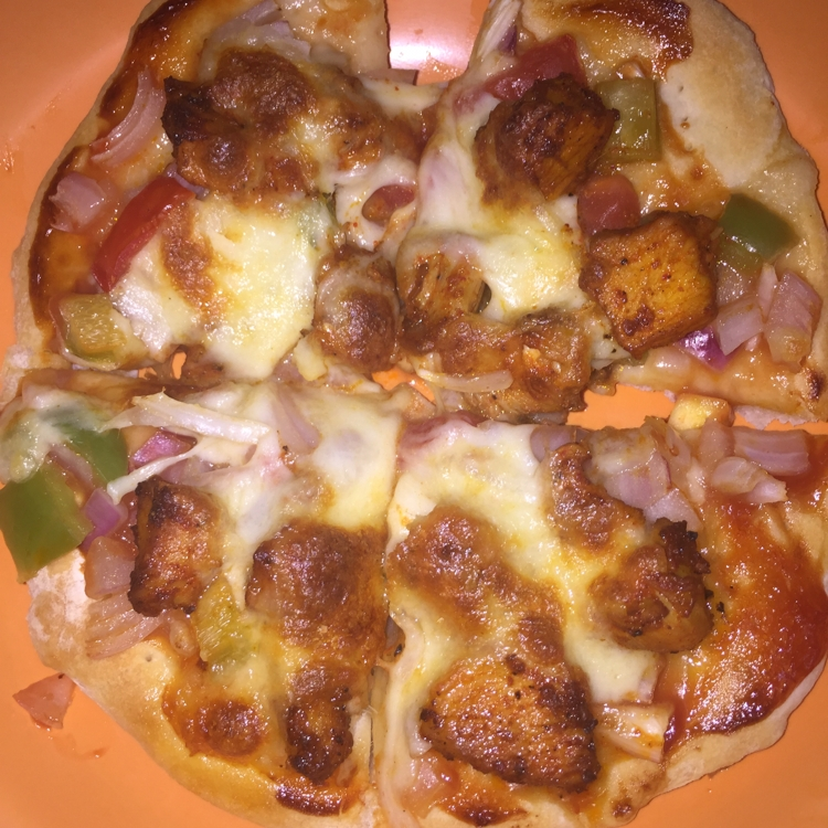 Photo of Chapati Soyachunk pizza by Baby SiMr at BetterButter