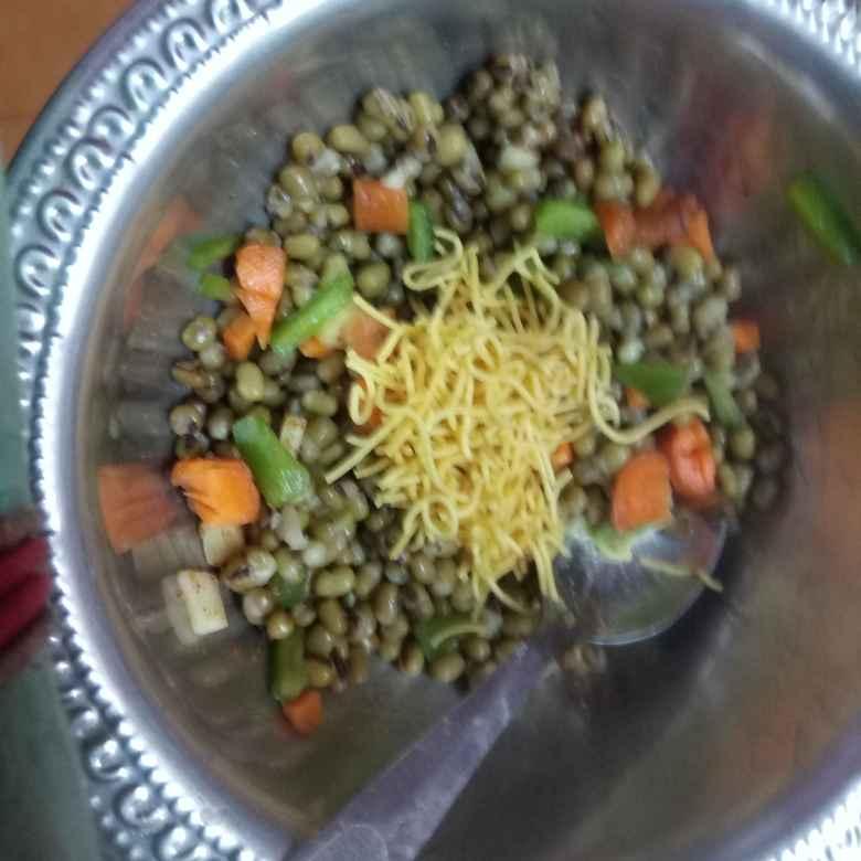 Photo of Green gram chat by Balajayasri Dhamu at BetterButter