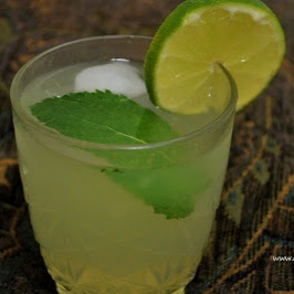 How to make Minty lime cooler /  Minty lemon cooler