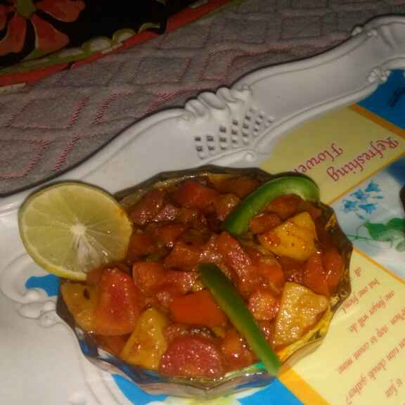 Photo of Spicy carrot aaloo curry by Bansi chavda at BetterButter