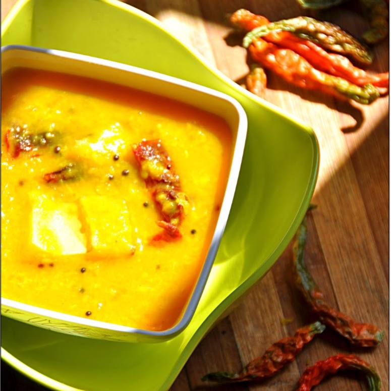 How to make Kacha Aamer Tok Daal (Soupy Red Lentils with Raw Mango)