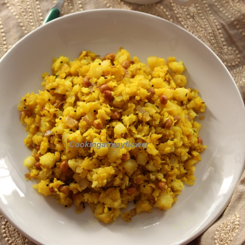 Photo of Aloo Poha/ Potato Poha/ Savory Flattened rice (Aval) and Potato  by Beena Stephy at BetterButter