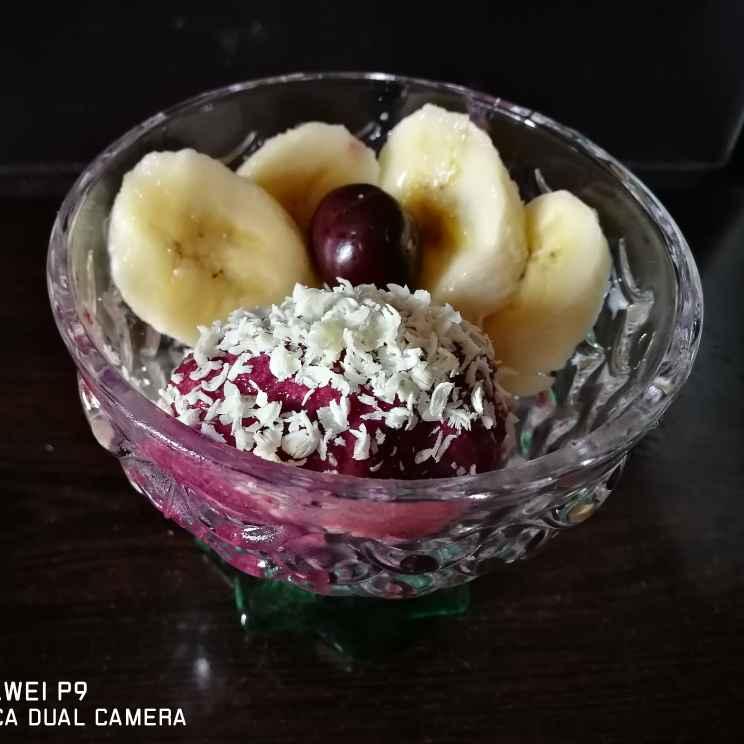 Photo of Homemade cherry ice cream by Benazer Abdul Kader at BetterButter