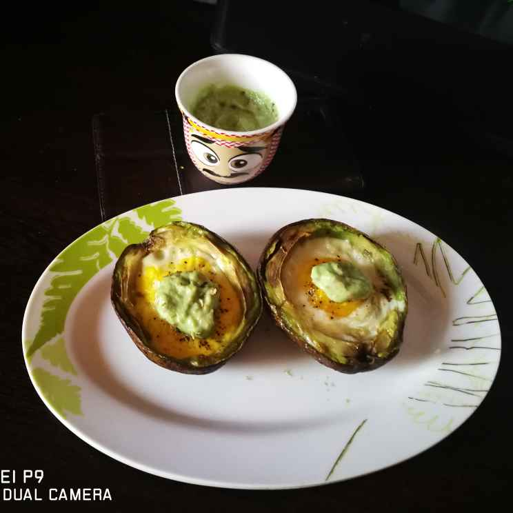 Photo of Baked egg in avacado with avacado sauce by Benazer Abdul Kader at BetterButter
