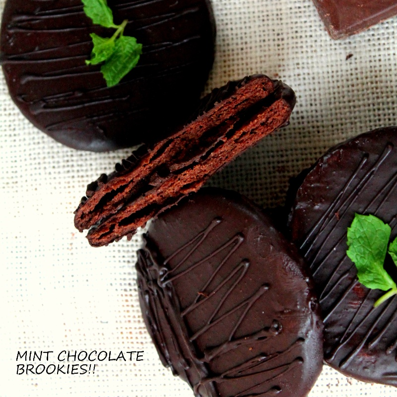 Photo of Dark and bitter Chocolate Mint Brookies!!! by Bency Koshy at BetterButter