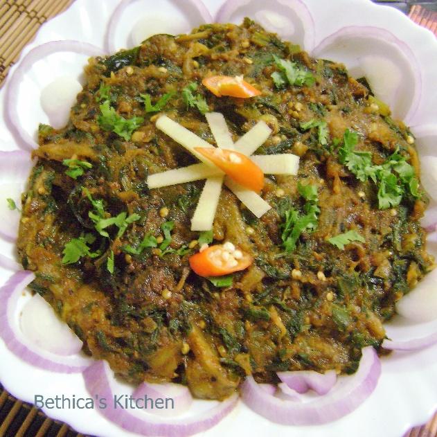 How to make Baingan Palak Bharta - South Indian Fusion Style