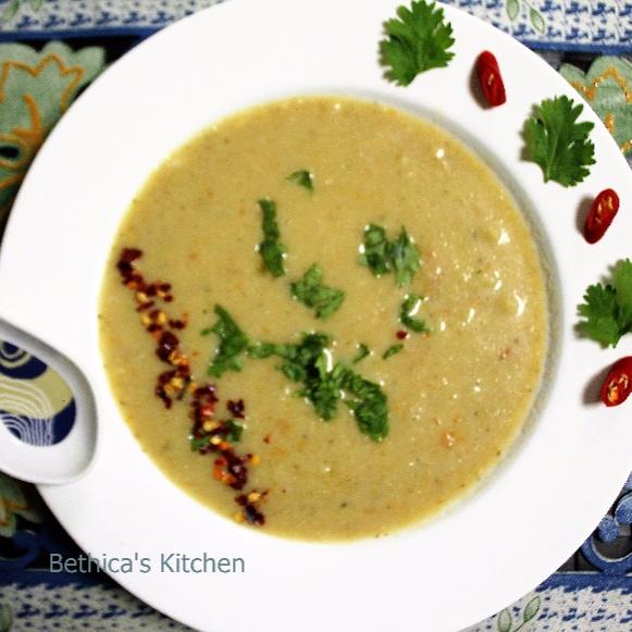 How to make Creamy Cauliflower Chowder / Soup / Broth