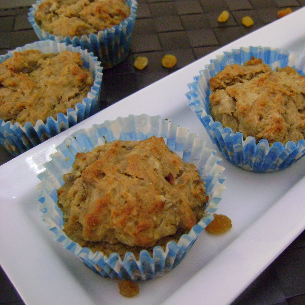 How to make Eggless Banana & Raisin Muffins
