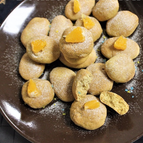How to make Eggless Rustic Orange Cookies