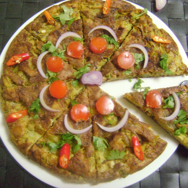 Photo of Spanish Omelette with Indian Flavour by Bethica Das at BetterButter