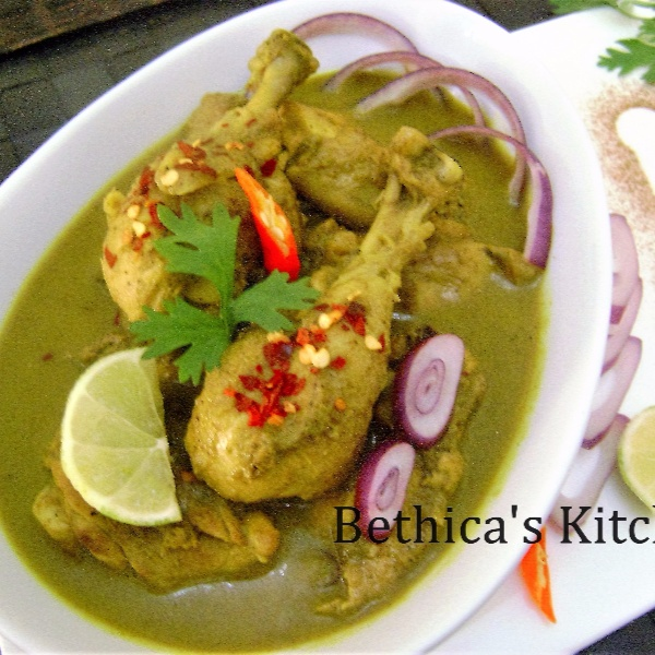 Photo of Green Chicken Curry by Bethica Das at BetterButter
