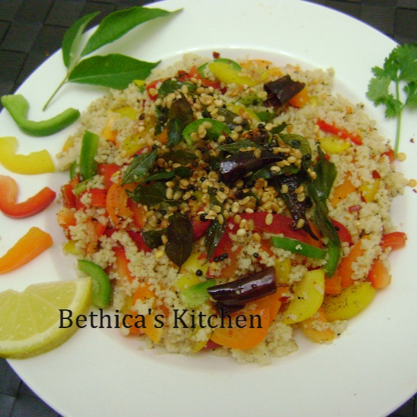 Photo of Couscous Salad with Indian Tadka by Bethica Das at BetterButter