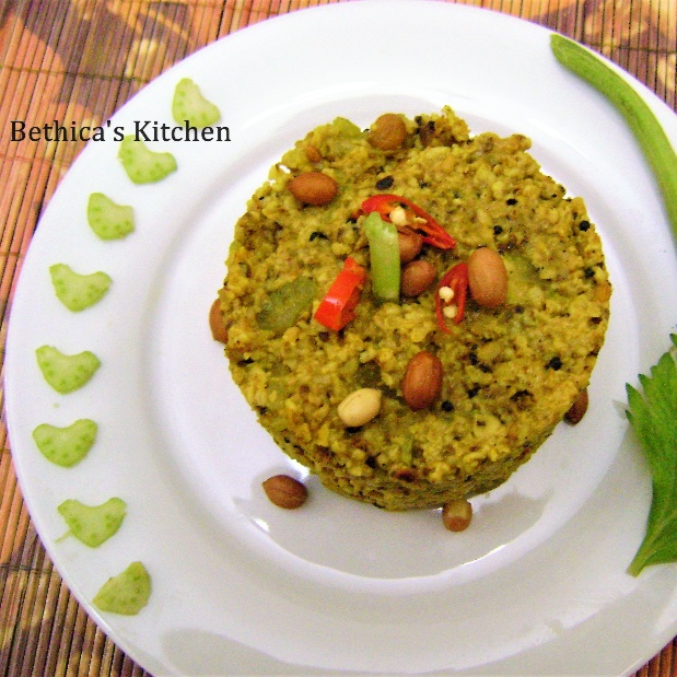 Photo of Oats Celery Upma by Bethica Das at BetterButter