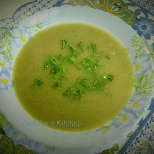 How to make Coriander Stalks & Spinach Stalks Soup
