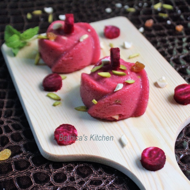 How to make Beetroot Semolina Halwa / Pudding