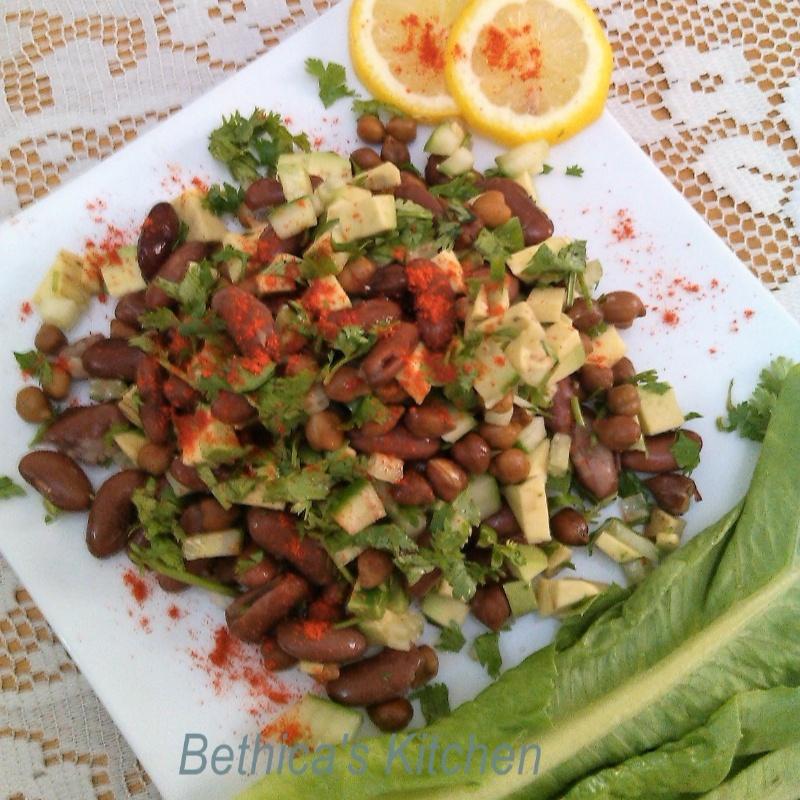 How to make Rajma & Chana Salad with Avocado