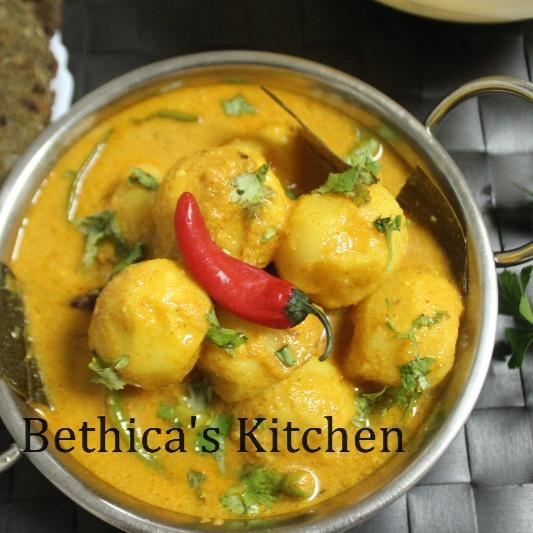 How to make Doi Aloo (Dahi Aloo / Potatoes in Yoghurt Gravy - Bengali Style)