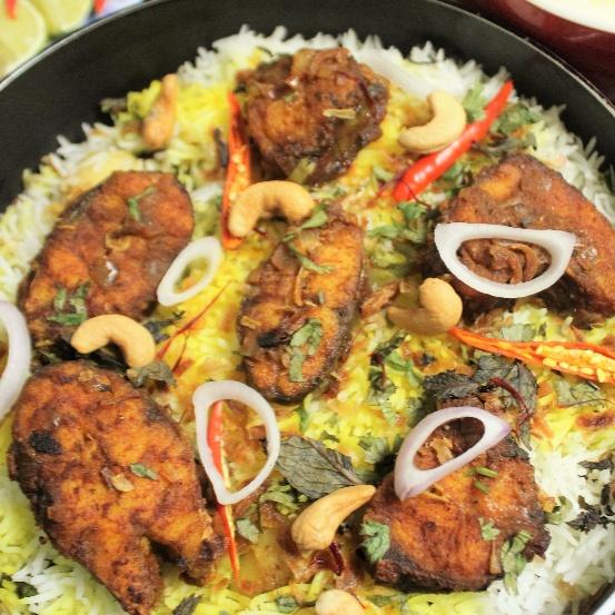 How to make Fish Biryani - Bengali Style