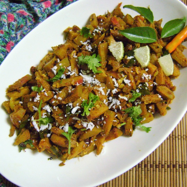 Photo of Panasa Pottu Kura (Raw Jackfruit curry - Andhra Style) by Bethica Das at BetterButter